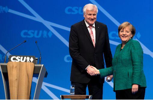 Freundlicher Empfang für Merkel