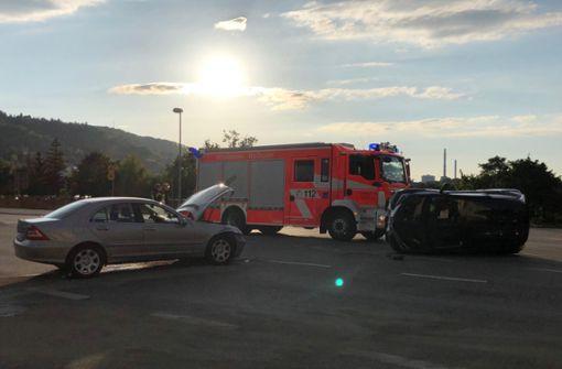 Zwei Autos waren an einer Kreuzung kollidiert. Foto: 7aktuell.de/Alexander Hald