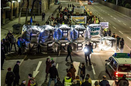 Demo für den Diesel am Neckartor