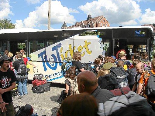 Kostenlose Bustransfers zum Southside