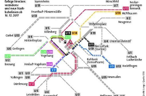 Änderungen im Stadtbahnnetz halten sich in Grenzen