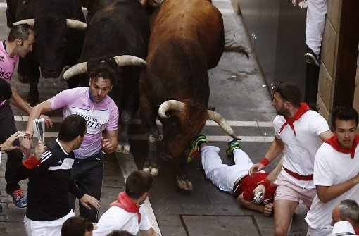 Vier Menschen bei Stierrennen verletzt