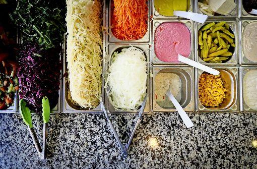 Vegan  essen im Döner-Restaurant