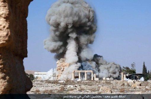 IS prahlt mit  Tempel-Zerstörung