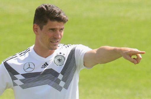 Trainingseinheit ohne VfB-Stürmer Mario Gomez