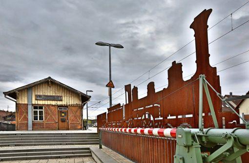 Weichenstellung am alten Bahnhof