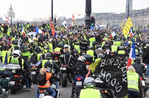 Die Gelbwesten-Bewegung in Frankreich richtet sich gegen die Regierung Macrons.  Foto: AFP