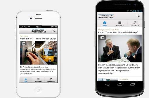 Ein Update für iPhone und erstmals auch eine App für Android: Lesen Sie die Stuttgarter Nachrichten nun auch auf dem Smartphone.  Foto: SIR