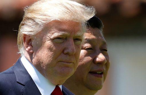 US-Präsident Donald Trump und Chinas Staatschef Xi Jinping haben Nordkorea zur Zurückhaltung aufgerufen. Foto: AP