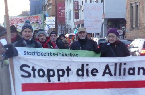 VÖS demonstriert gegen die Allianz-Pläne