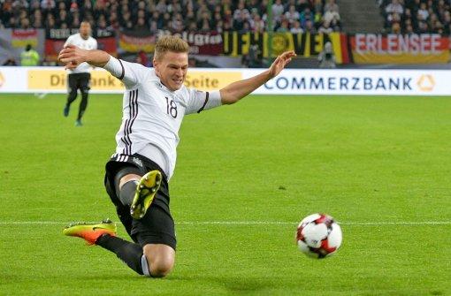Joshua Kimmich jüngst im Spiel der Nationalmannschaft gegen Tschechien... Foto: dpa