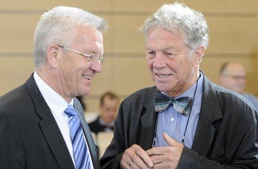 Der SPD-Politiker Peter Conradi (rechts) mit Winfried Kretschmann. Foto: dpa