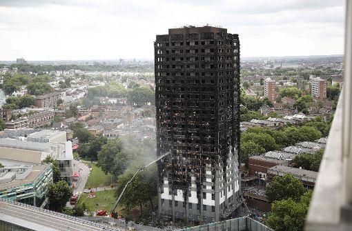 Londoner Hochhausbrand: 600 Hochhäuser haben ähnliche Fassade