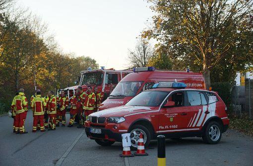 Polizei und Feuerwehr haben den Naturpark Schönbuch am Samstag als Übungsort genutzt.  Foto: SDMG