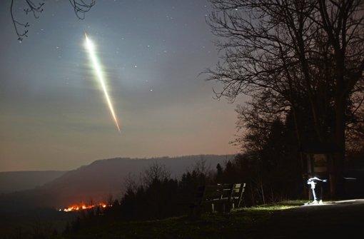 Schüler fotografiert den Meteorit