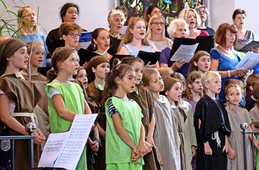 Das Kindermusical  in der Stadtkirche begeistert die Zuhörer