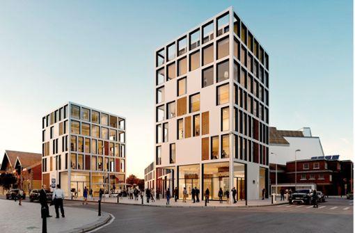 Platz zwei: Der Entwurf der Strabag erinnert nicht von ungefähr an das Stuttgarter Milaneo – dieses wurde ebenfalls von ihr errichtet. Foto: Strabag