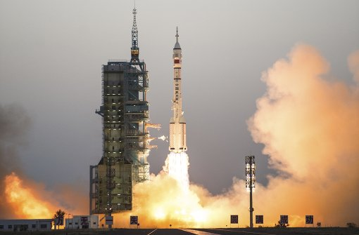 Spektakulärer Raketenstart in China