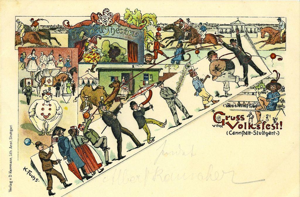 """Auf der Grußkarte von 1902 fragen die besorgten Eltern: """"Warum lässt ..."""