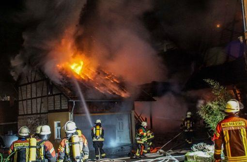 Zwei Verletzte bei Brand in Fachwerkhaus