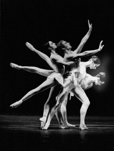 Stuttgarter Ballett: Apollon Musagéte,  Choreographie: George Balanchine, 1970;  Heinz Clauss, Marcia Haydée, Susanne Hanke, Judith Reyn  © Hannes Kilian Foto: © Hannes Kilian