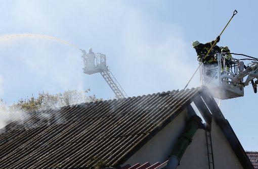 Feuer auf Ponyhof - zwei Personen schwer verletzt
