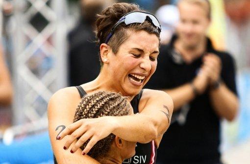 Hanna Philippin lässt ihrer Freude über das gute Abschneiden in  Hannover freien Lauf. Foto: Joseph Keindl