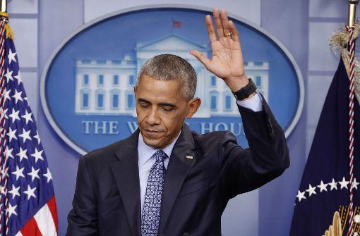 Barack Obama sagt sorgenvoll Adieu