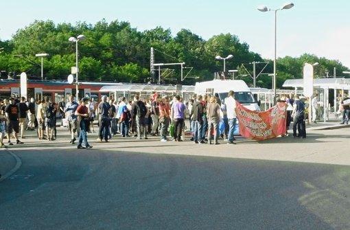 Antifa-Protest durch Leonberg