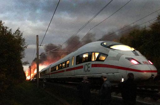 Bahn überprüft nach Brand auf offener Strecke ICE-Züge
