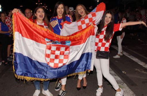 Kroatische Fans prägten in den vergangenen vier Wochen das Stuttgarter Stadtbild. Foto: Andreas Rosar Fotoagentur-Stuttgart