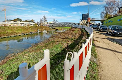 Ufer-Umgestaltung mit Hindernissen