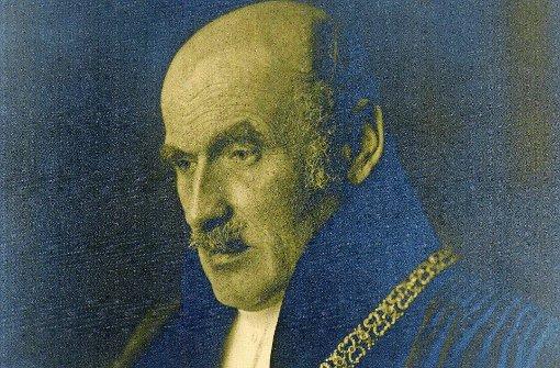 Karl Vossler mit Amtskette 1927 als Rektor der Ludwig-Maximilians-Universität in München Foto: Fürstlich Castell'sches Archiv