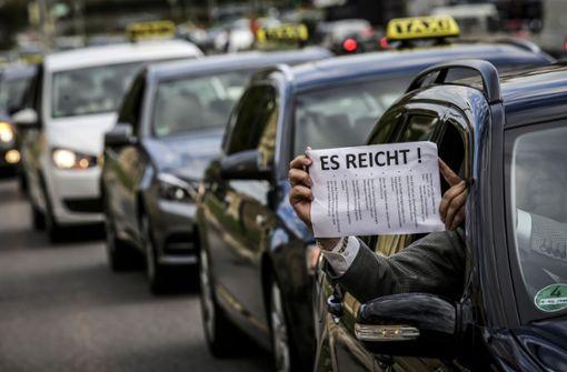 Taxifahrer legen die Arbeit nieder