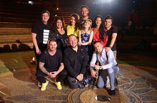 Mario Turtak (unten rechts) und seine Mitstreiter freuen sich auf die Liveshows. Foto: MG RTL D / Stefan Gregorowius