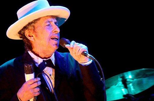 Bob Dylan 2012 bei einem Konzert in Spanien. Am Sonntagabend hat der Altmeister in Tübingen gespielt. Foto: dpa