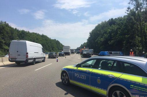 Der Verkehr staute sich zeitweise zu einer Länge von bis zu 20 Kilometern. Foto: 7aktuell.de/Gruber