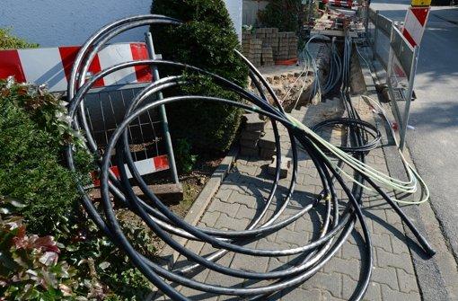Neue Stromkabel für den Stadtteil Ramtel