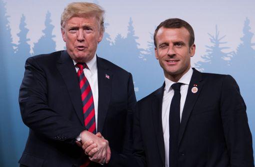 Neues Händedruck-Duell zwischen Emanuel Macron und Donald Trump