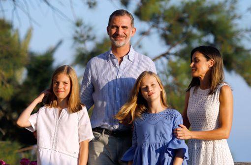 Königsfamilie beginnt Urlaub auf Mallorca