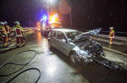 Nach Unfall langer Stau auf der B27