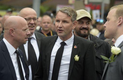 Unter anderem dabei: Björn Höcke, AfD und ... Foto: AP