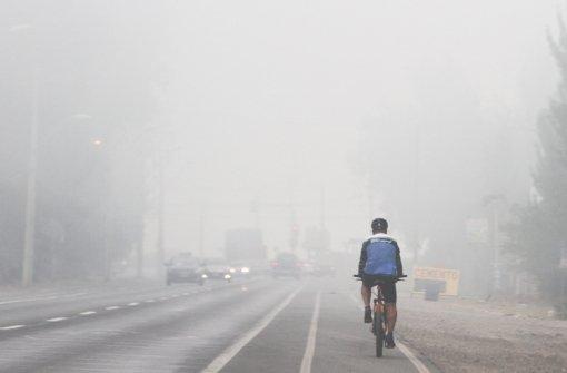 Rauchwolke über Santiago de Chile