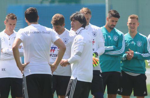 Die deutsche Nationalmannschaft hat am Mittwoch ihr erstes Training in Russland absolviert. Foto: Getty Images Europe