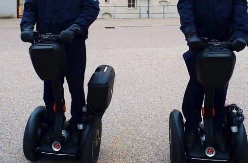 Mit dem Segway im Einsatz in Waiblingens Innenstadt. Foto: Stadt Waiblingen