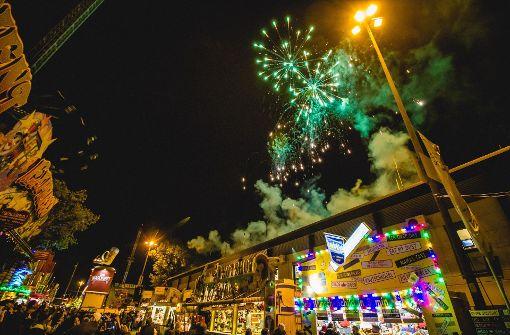 Wasen-Finale mit großem Feuerwerk