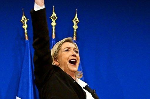 Die Frontfrau der Französischen Rechten: Marine Le Pen. Foto: