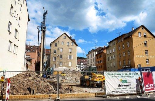 Baustelle mit Blick auf Fernsehturm
