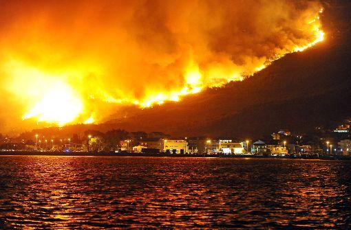 Die Waldbrände drohten, auf die Stadt Split überzugreifen, doch ... Foto: AFP