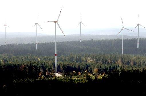 Der Windpark zwischen Simmersfeld und Seewald Foto: dpa